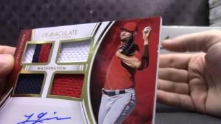 2016 Immaculate Baseball 8 Box Case Break Serial #s GB