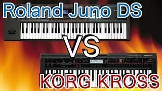 Roland JUNO-DS61 VS KORG KROSS61 比較レビュー&Piano Sound Check!