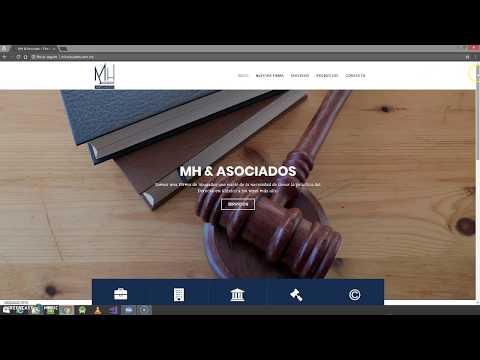 Portafolio de página web MHAsociados