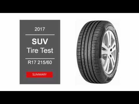 2017 SUV Summer Tire Test – Summary | 215/60 R17