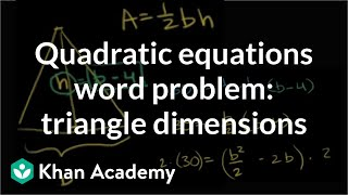 Applications Problem Factoring Quadratics