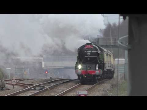 LNER A1 Class 60163 'Tornado' erupts out of the Welsh Portal…