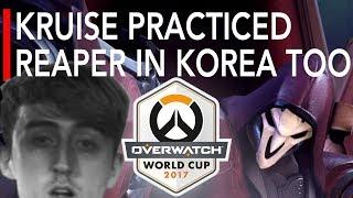 Overwatch | UK VS Germany - Kruise Practiced Reaper in Korea Too | World Cup 2017 Highlights