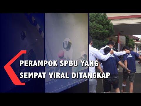 perampok spbu yang sempat viral ditangkap