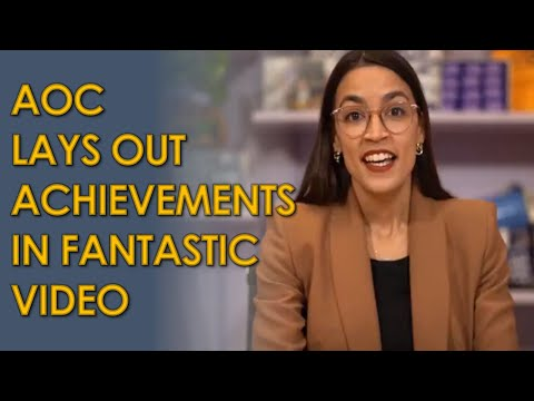AOC Proves Haters wrong in FANTASTIC video highlighting progressive accomplishments