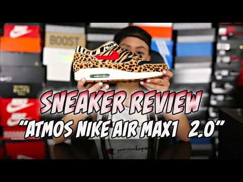 """BABY KAELY """"Sneaker review"""" Atmos x Nike air max1(Animal)  2.0"""