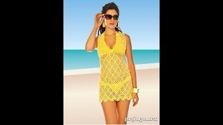 Пляжная Туника-Сетка Крючком 2017 / Beach Tunic Grid Hook / Strand-Tunika Gitter Haken
