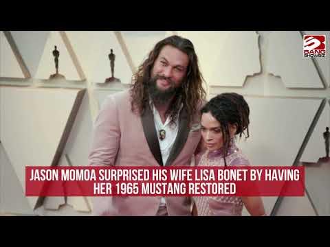 Jason Momoa surprised his wife Lisa Bonet by having her 1965 Mustang restored