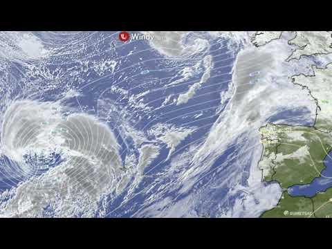 Illustration de l'actualité La tempête Justine vue du satellite