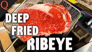 Deep Fried Ribeye Steak & Ribeye Burnt Ends