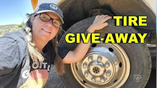 FREE BRAND NEW RV/Van TIRES  to a Nomad who Needs Them!