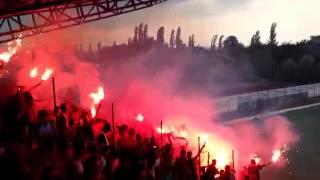 Atmosfera në mes dy pjesëve gjatë lojës Shkëndija-Vardar në Kumanovë