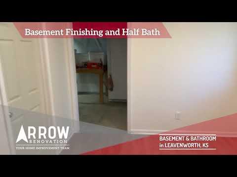 Basement and Half Bath Built in Leavenworth, KS.