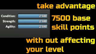 MMA manager | 7500 base skill points without affecting your level | tips and tricks | bug or not?