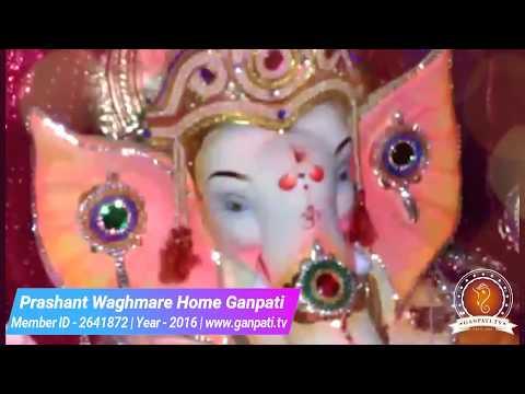Prashant Waghmare Home Ganpati Decoration Video