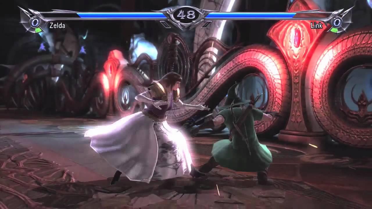 Watch Princess Zelda Beat Up Link In SoulCalibur V