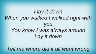 Anouk - Lay It Down Lyrics