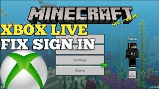 How to Sign in Xbox Live Minecraft (Pocket Edition) FIX PROBLEM! 2018/2019
