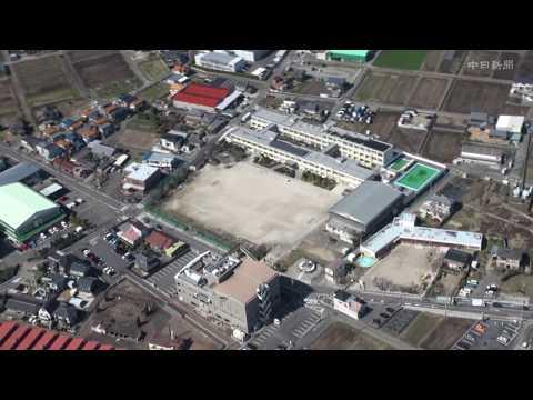 愛知県小牧市の北里小学校を空撮 〜2020年3月、中日新聞近郊版で児童の作文を紹介する「小さな発言」〜