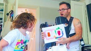 Kids Surprise Dad