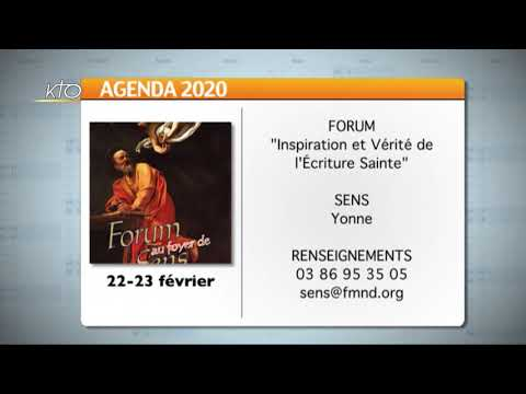 Agenda du 14 février 2020