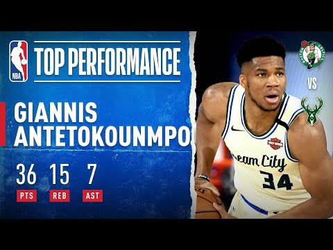 Giannis Records HUGE Double-Double To Guide Bucks To W!