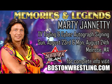 LIVE!  Marty Jannetty SummerSlam Watch Along & Cyber Autograph Signing August 23rd!