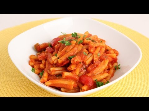 Pasta with Pancetta & Cherry Peppers Recipe – Laura Vitale – Laura in the Kitchen Episode 874