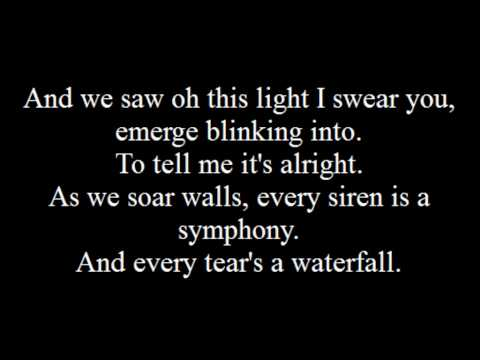 , title : 'Coldplay: Every Teardrop Is A Waterfall Lyrics.'