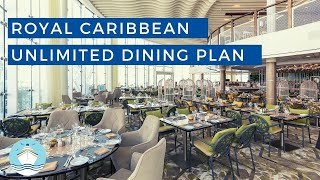 All Details on Royal Caribbean's Unlimited Dining Plan