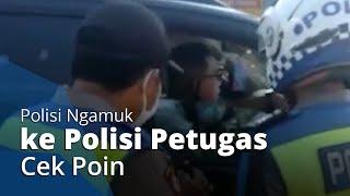 Fakta Polisi Bripka H Ngamuk ke Petugas Cek Poin, Tancap Gas,Hampir Tabrak Angkot hingga Dimutasikan