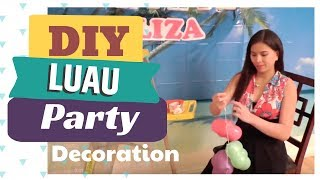 HOW TO DECORATE FOR A LUAU PARTY