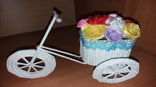 DIY Велосипед Тележка Своими Руками Подарок _Из бумаги _ Поделка //ЮЛили Мурли//