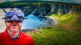 My BEST DJI FPV SHOT Ever! // Cinematic Drone Cliff Diving in Northern Ireland