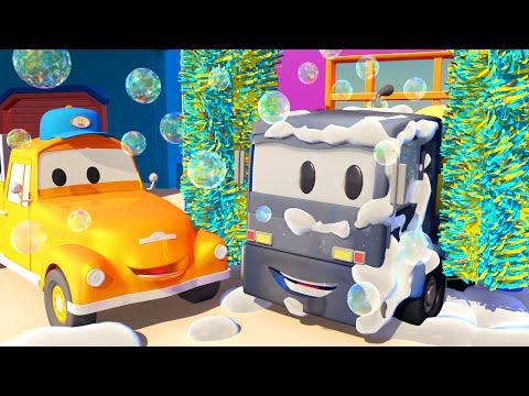 Christopher el Mezclador de Cemento en el lavado de Autos de Tom La Grúa ! | Dibujos animados