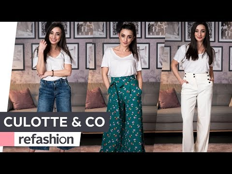 FASHION TIPPS: Hosen - Marlene, Palazzo, Culotte & Co ~ refashion | OTTO