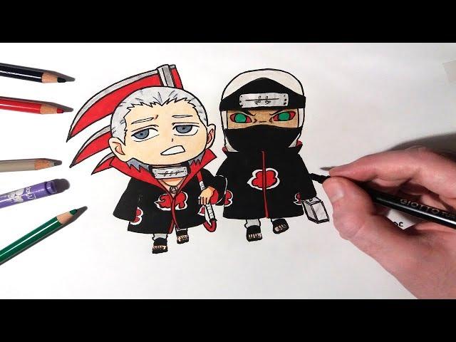 Speed-drawing-chibi-hidan-and