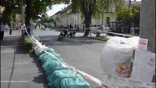 preview picture of video 'Bátrak versenye Balassagyarmat 2012 - Mz-k a kanyarban'