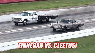Our DIESEL Galaxie's FIRST RACE! Used the Nitrous... It's AMAZING!