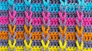 How To CROCHET JACOBS LADDER Stitch - Chain Loop Braids By Naztazia