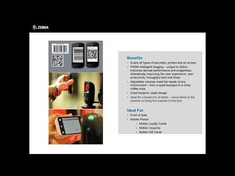 Zebra Tabletop Barcode Scanner DS9208