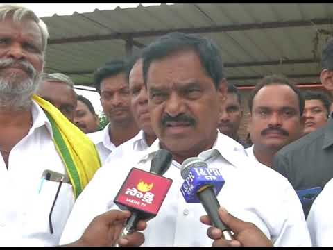 05.08.2019 Deputy CM and District Collector Speaking to Media at Vedurukuppam Mandal