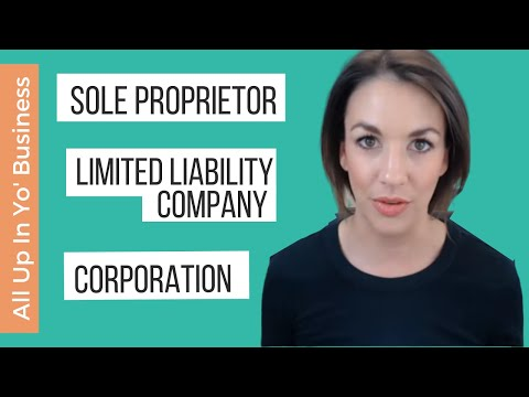 All Up In Yo' Business: Sole Proprietor, LLC, or Corporation?