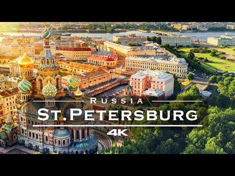Saint Petersburg, Russia 🇷🇺 - by drone [4K]