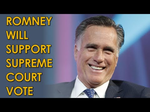Mitt Romney will SUPPORT a Vote on Trump's Supreme Court Nomination to Replace Ginsburg