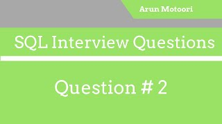 SQL Interview Question # 2 - Write an SQL Query to display the Current Date