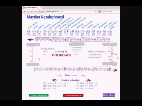 Video of Kyiv metro scheme