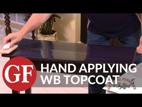How to Apply Water Based Topcoat