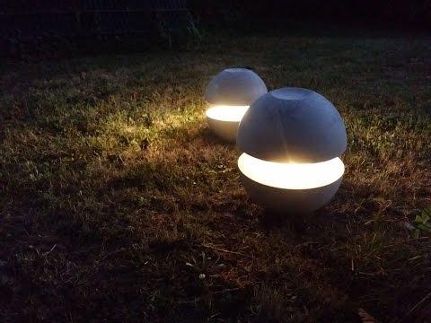 How to DIY concrete lamp / Betonlampe gießen