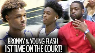 Bronny James & Zaire Wade Paired Up Like THEIR DADS Dwayne Wade and LeBron James!